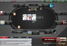 Poker Stars Texas Hold em Table