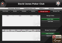 Poker Stars Manage Games Page